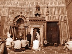 Masjid of Sultan Hassan     / Cairo / Egypt - 16 04 2010 (Ahmed Al.Badawy) Tags: architecture shots 04 egypt cairo sultan hassan 16 ahmed masjid islamic 2010   mamluk   albadawy hutect