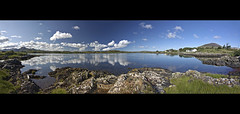Parallel Universes (edmundlwk) Tags: ireland lake reflection water clouds landscape rocks explore frontpage stitched panoroma connemaraloop canon450d rebelxsi tokina1116mm yullycross