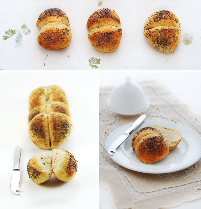 Poppy seed potato rolls