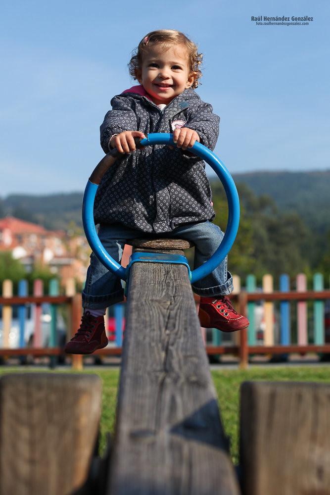 En lo alto del balancín