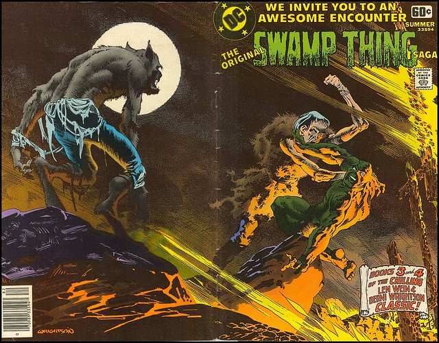 DC Special Series 1978 Swamp Thing wraparound cover by Berni Wrightson