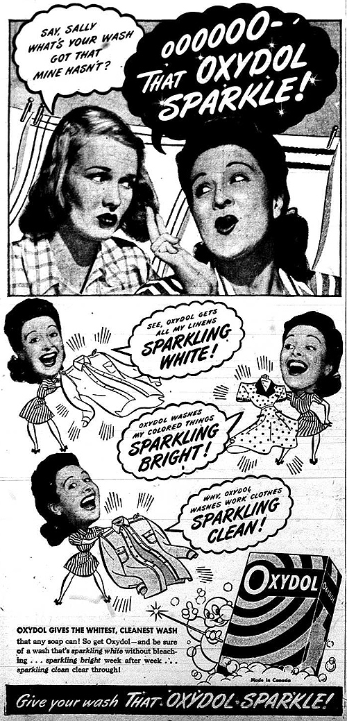 Vintage Ad #1,241: The Oxydol Sparkle (1)
