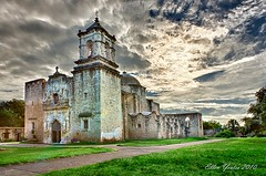 ~ After the Storm ~ Mission San Jose (Ellen Yeates) Tags: old travel sky storm building church austin photography ellen san catholic texas tour jose jesus pro mission after antonio visitor hdr largest yeates efex