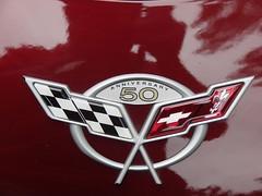 Jim's 59th Anniversary badge (redvette) Tags: corvette rivervalleyvettes redvette tomhiltz