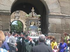 Acceso a la ciudad de las Reliquias de San Ildefonso en 2007