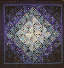 """Rain on the prairie "" (manu/manuela) Tags: blue green aqua purple quilt quilting blocks patchwork manuela blocs handquilted 10faves quiltmain"