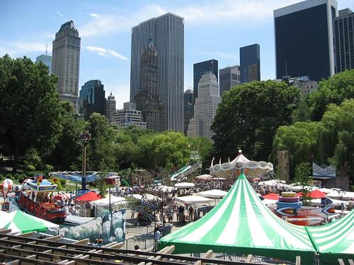 Kids amusement center in Central Park