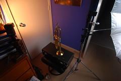 setup (master9zero) Tags: blue orange reflection colors metal nikon trumpet instrument horn specular brass gel strobist lighting102