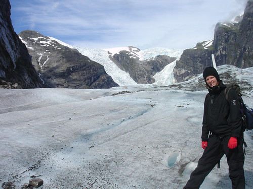 Ruth on the Austerdalsbreen Glacier