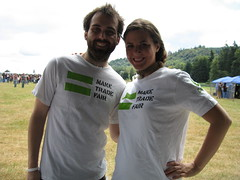 Oxfam volunteers