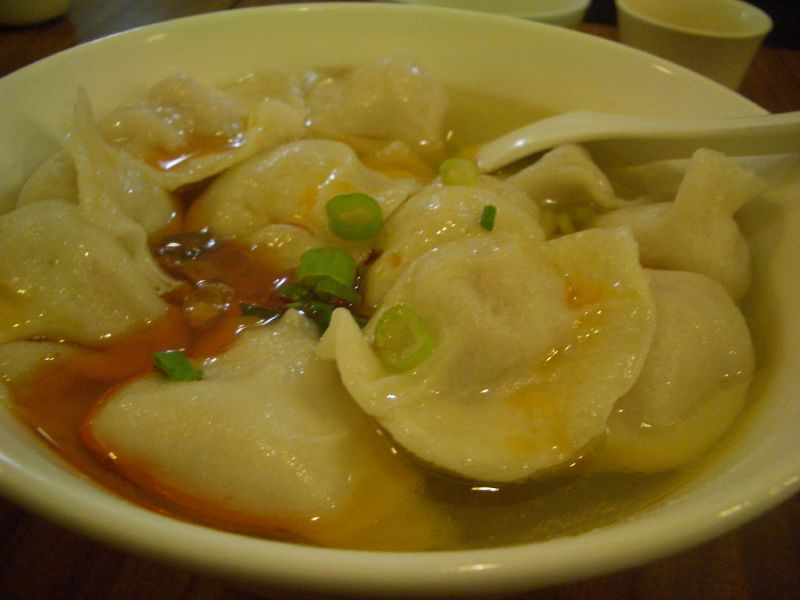Chilli oil dumplings at Chinatown Dumpling