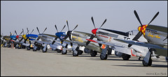 Mustang Parking [Explored] (K-Szok-Photography) Tags: california canon outdoors aircraft aviation airshow socal mustang canondslr warbird chino p51 canon70200f4l inlandempire adifferentpointofview sbcusa planeoffame kenszok