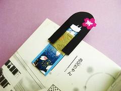 Magnetic Bookmark - Umi (umeorigami) Tags: blue sakura paperdoll origamipaper bookmark washi ningyo chiyogami magneticbookmark