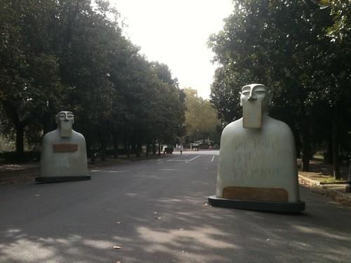 Rome, Borghese Gardens, sculptural group (partial)