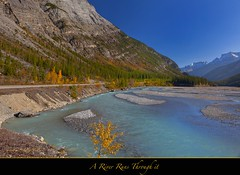 "A River Runs Trough it...Happy Birthday Rafael (Joalhi ""Back in Miami"") Tags: autumn canada alberta banff northsaskatchewanriver columbiaicefield abrahamlake coth5"