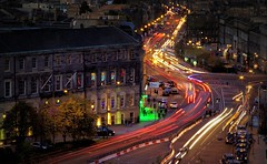 LeithLights-2010 (Rick's Folio) Tags: cars canon dark scotland edinburgh nightshot rick vivid colourful lighttrail leithwalk nightimage favourate anawesomeshot colorphotoaward