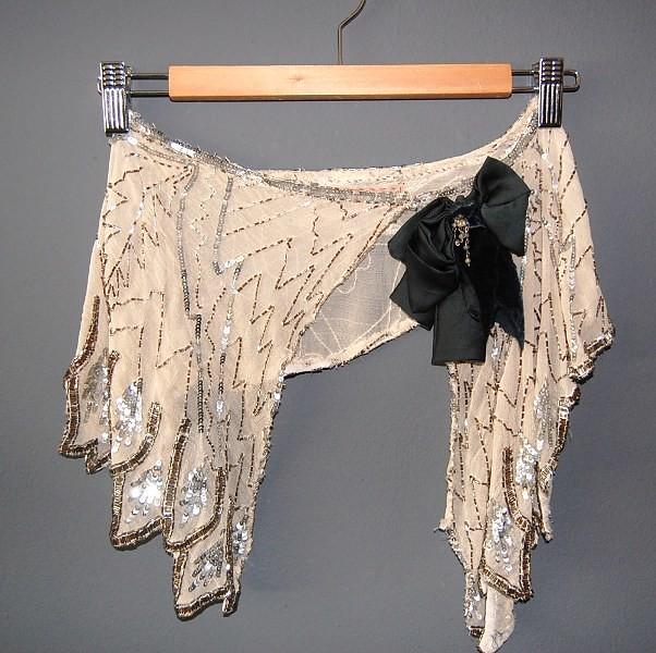 K Hendrix Couture paillette cape 1
