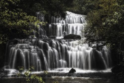 [フリー画像] 自然・風景, 滝, ニュージーランド, 201010270100
