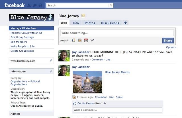 BlueJeresy FaceBook Page