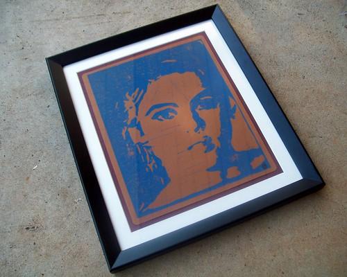 Framed Edie Print