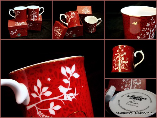 2010 Starbucks Christmas Rosamma Red Mug 01(歡樂耶誕馬克杯)