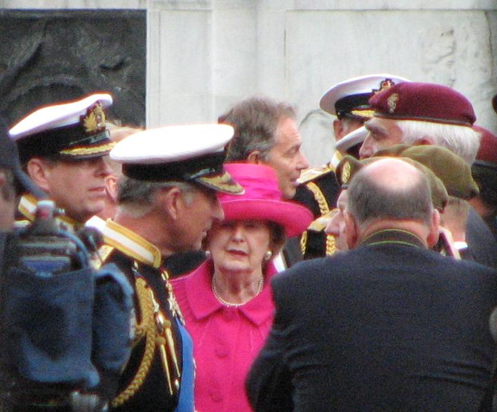 Prince Charles, Margaret Thatcher, and Tony Blair