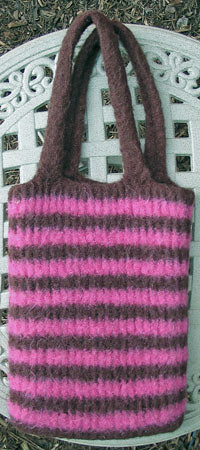 Knifty Knitter Bag Post-Felted