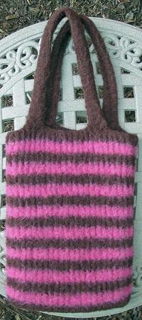 Knifty Knitter Bag Post-Felted