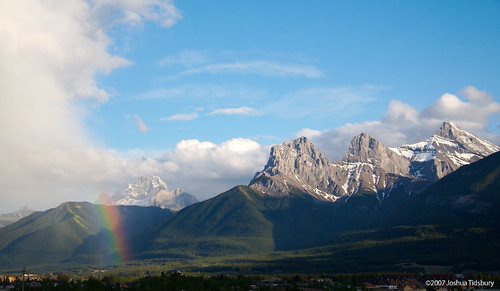 Rainbow over Canmore (Photo by beyond20khz)