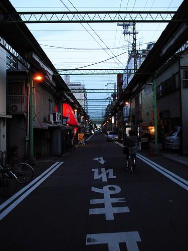新長田夕方