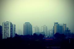 in the land of intense censorship (arthritisboner) Tags: china smog beijing highrises