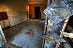 HDR Danger: Asbestos. (Erik.Christiansen) Tags: building abandoned warning san angle wide diego laguna base hdr radar chemical asbestos trashbit