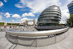 Scoop! (cybertect) Tags: uk england london unitedkingdom cityhall explore normanfoster se1 morelondon thescoop glabuilding fosterpartners canoneos5d canonef15mmf28fisheye