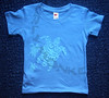 flock of turtles on blue toddler tee Sizes available: 2T