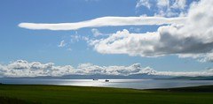 An Unusual Scapa Flow Sky - Orkney Islands. (orquil) Tags: uk panorama seascape skyscape scotland orkney ship ships cloudscape tanker holm 2007 tankers anchored scapaflow fz7 visitorattraction orcades eastmainland