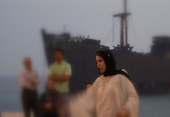 Narration of the Shahnameh in Front of the Greek Ship, Kish Island, Iran