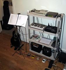 Home Studio (racreations) Tags: boss music home digital studio drum bass guitar lofi amp machine sound pedals recorder midi recording module accoustic fostex multitrack dunloporiginalcrybaby