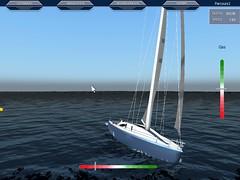 Helikopteransicht Segler (seamulator) Tags: simulation segelboot segler seamulator
