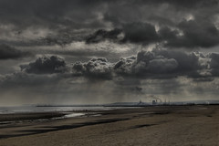 The Rain's Coming (Bobshaw) Tags: sky cloud beach nature rain weather clouds industrial smoke explore ciel nuage nuages hdr seaton carew mto hartlepool mtorologie 1xp