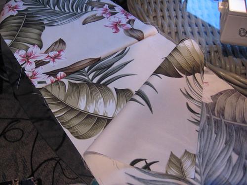 Cream floral fabric