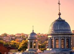 (Emilofero) Tags: pink light sunset sky urban sun color colour luz church architecture town europa europe trace bulgaria cielo dome balkans ville plovdiv bulgarie bulgarien bulgaristan trakya superbmasterpiece