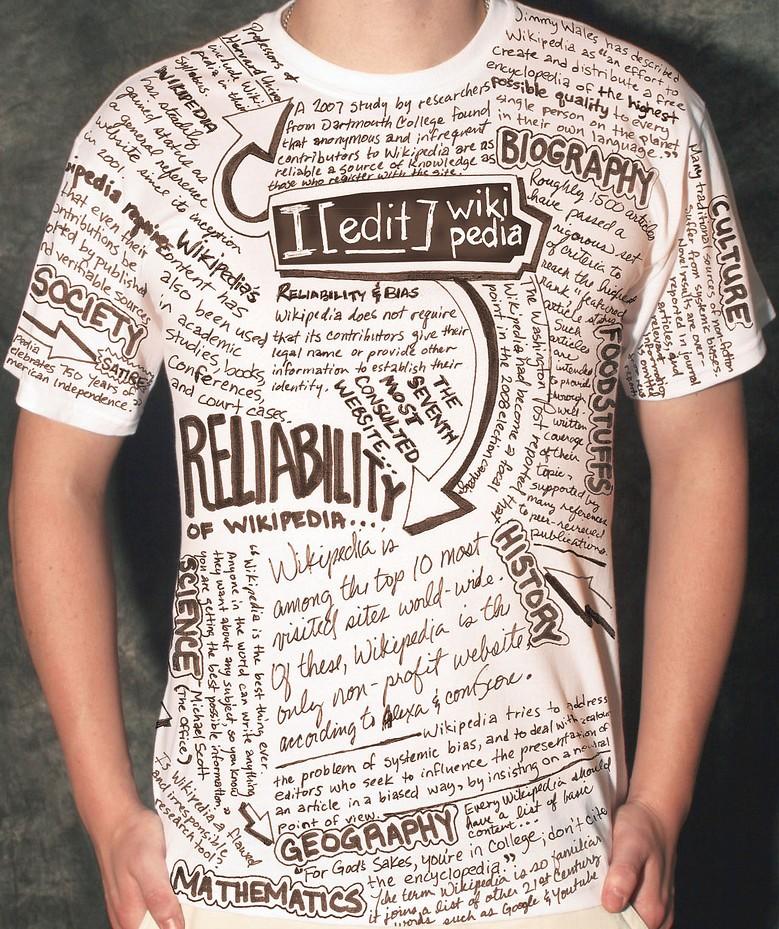 DIY wikipedia t-shirt via DIY-Guides