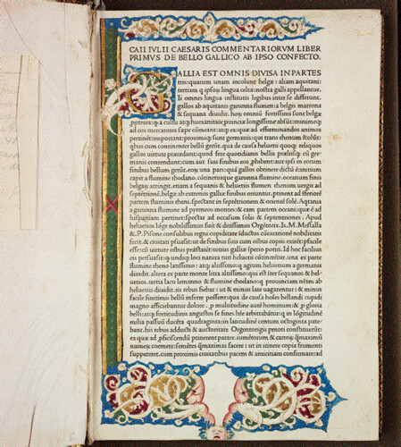 Julius Caesar's Commentaries, printed in Venice in 1471 by Nicholas Jenson