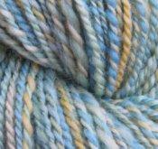 "4 oz 2 ply Hand Spun Worsted Yarn 100% Wool ""Beaches"""