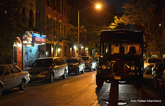 Street lights (Rafakoy) Tags: pictures street city nyc newyorkcity light shadow people test ny newyork color colour building cars colors car night digital 35mm buildings lights photo chelsea colours shadows with darkness image photos pavement manhattan taken images example sample late nite afsnikkor35mmf18g nikond7000