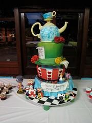 IMG_5761 (ArtisanCakeCompany) Tags: birthday cake portland hearts cupcakes bakery eatme teapot teacup madhatter toppers artisan teaparty aliceinwonderland fondant drinkme artisancakecompany