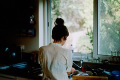 Morag Cooking (Or Hiltch) Tags: woman film cooking 35mm iso100 israel north galilee velvia  galil nikonf5  fujichromevelviarvp100