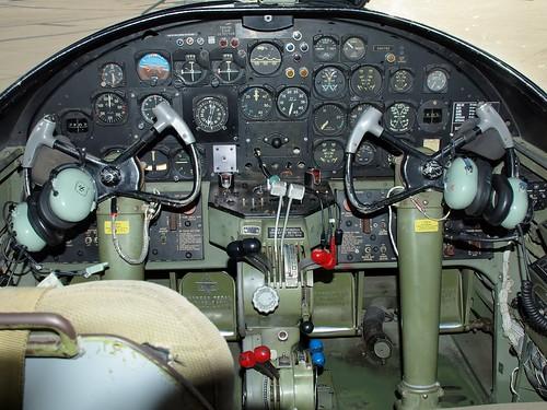 cockpit of DAV North American  B25 Cockpit