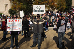 maybe my favorite sign at the rally (NotRocket) Tags: sign dc washington rally steelers gosteelers rallytorestoresanity