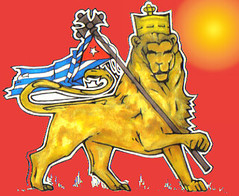 Cuban Lion (Marco Braun) Tags: orange yellow jaune krone leo symbol flag cuba lion amarillo gelb leon crown simba cuban aslan len fahne lew kuba signe symbole drapeau lev lwe  zeichen leones leeuw singa  juda    flavus